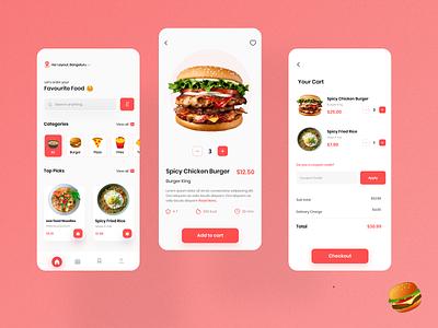 Food Ordering App designer shop popular ecommerce app food delivery app food ordering app food mobile design branding