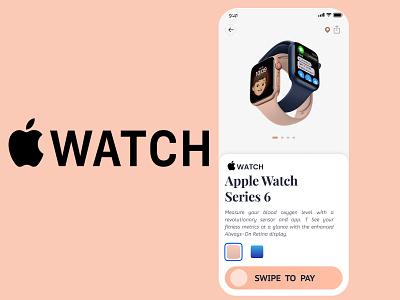 Apple iWatch Store design ui app