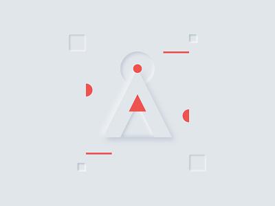 Day 01 - A - 36DaysOfType 2020 minimalist typogaphy 36daysoftype07 36dayoftype softui neumorphism