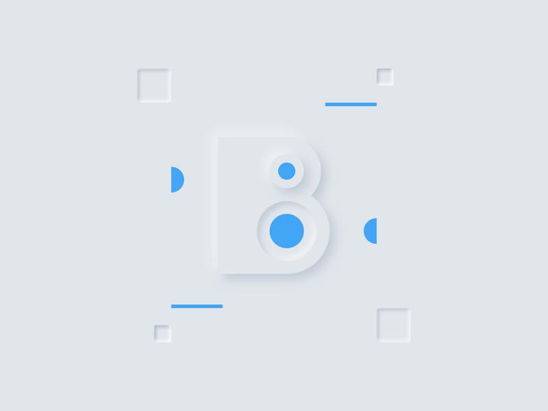 Day 02 - B - 36DaysOfType 2020 minimalist typogaphy softui neumorphism 36daysoftype07 36dayoftype