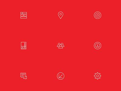 Icon Set for IoT Platform | encircle.io ux ui icon platform product web app encircleio