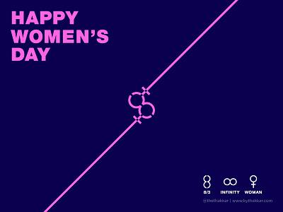 International Women's Day graphic design design graphic woman march infinite infinity womensday womens day women