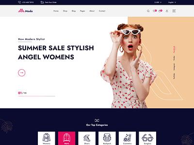 Moda - Fashion Ecommerce XD Template. ecommerce moda web app mobile application mobile app branding motion graphics graphic design 3d animation ui