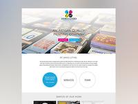 Printing Company's Homepage Mockup