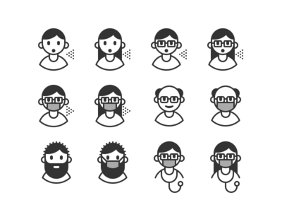 covid terms in pictograms 02 illustration iconography iconset icons