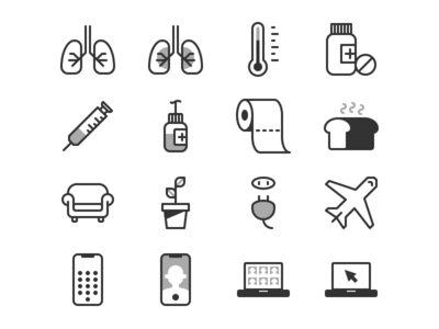 covid terms in pictograms 03 illustration pictograms iconset iconography icons