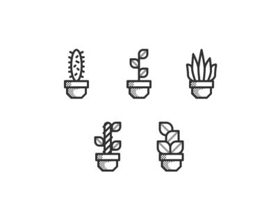 pictograms - houseplants illustration pictogram iconography iconset icons