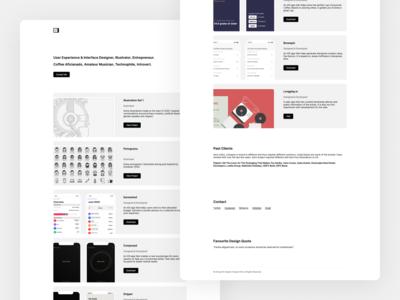 Minimal portfolio refresh designer ui design ux design illustrator redesign refresh minimalism minimal portfolio