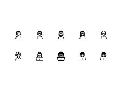 SDT P01 lineart design icon set minimal line art pictograms iconset icons iconography illustration