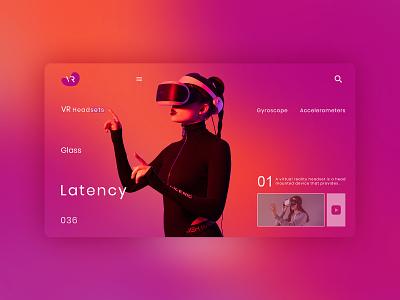 VR Headset UI Concept headset vr business card adobe flat design photoshop character design behance xd ui logo illustration graphic design design branding app animation 3d adobe photoshop