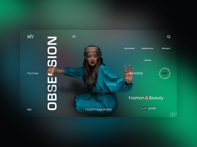 Anxiety - Fashion & Beauty UI Concept uibanner fashion beauty anxity uplabs websitedesin instagram behance illustration logo motion graphics 3d ui graphic design design branding app animation adobe photoshop