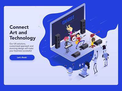 Onix design website web desktop logo branding trands illustration audit ui ux