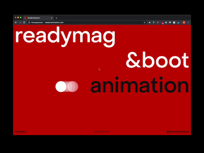 Readymanimation.com website design presets animation readymag product ux ui