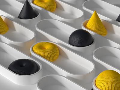 Design System Meetup grid design concept animation art render 3d logo branding illustration