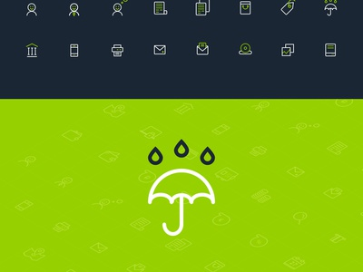 Banking icon set (+free PSD) freebie psd free icon bank outline vector