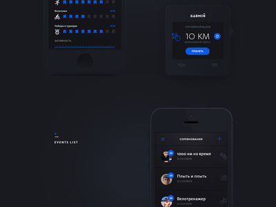 Garmin Challenge for RussianDesignCup watch russiandesigncup competition mobile concept ux ui