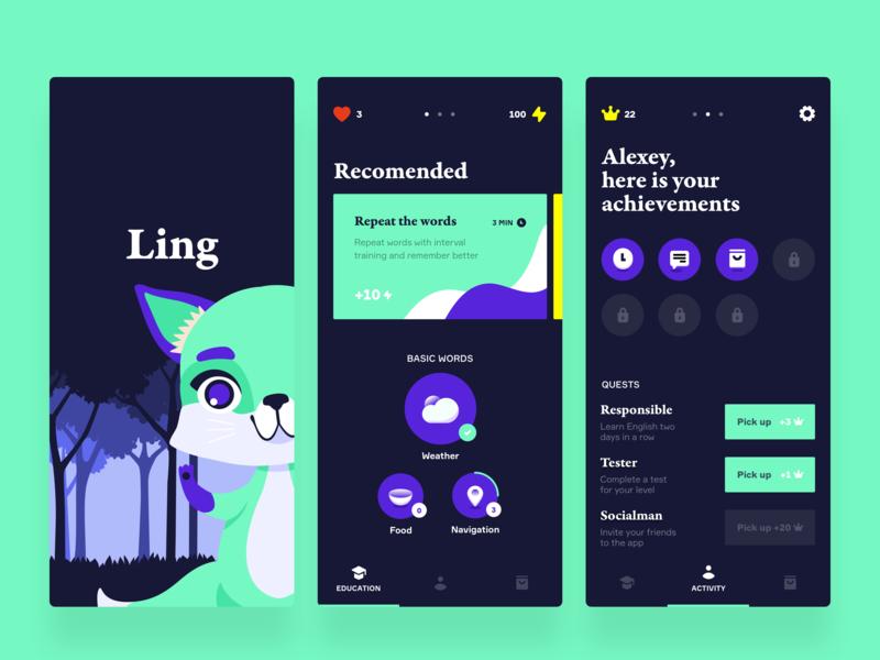Language app concept ios language design interface clean app concept ux ui