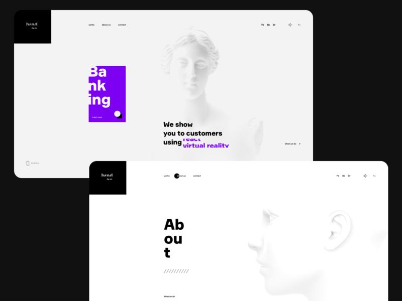 Agency website concept (AIC brnd) interface landing website design grid aic agency clean concept ui