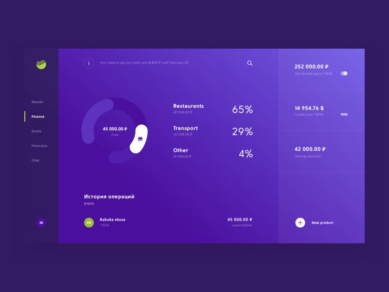 Internet bank concept finance bank website site app adaptive grid design clean interface concept ux ui