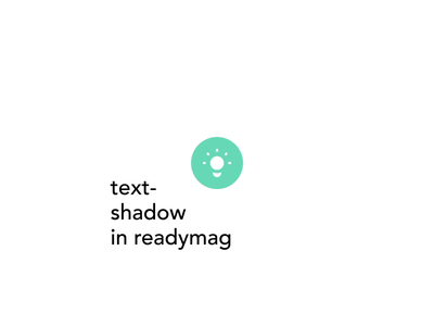 Text Shadow in Readymag 3d simple art-direction interface design shadow text ui readymag