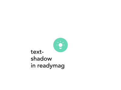 Text Shadow in Readymag