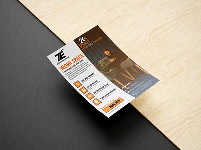 FLYER DESIGN adilakram free mockup typography vector illustration flyer graphic design