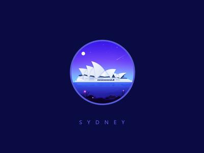 Sydney ui sky night photoshop olympic games illustrator icon sydney