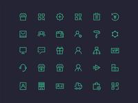 Shop line icons