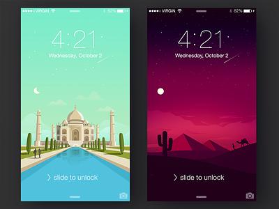 Free phone wallpapers free desert taj mahal iphone interface illustration download app