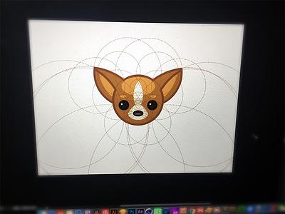 Dog sky icon line illustration dog cute animal