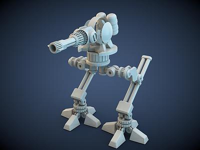 Robot mechanical dog robot c4d