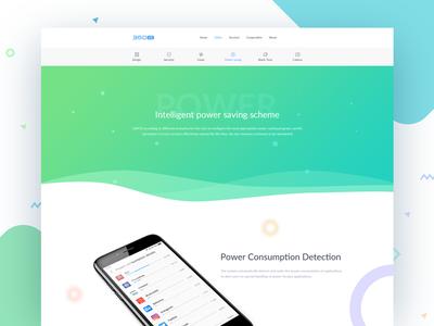 360os-Power Page website webdesign css 360os china phone os power design uix ui web
