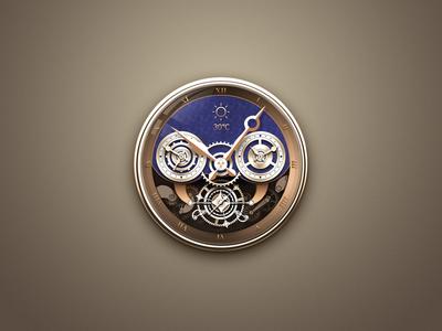 Gold theme clock time theme logo icon clock china app