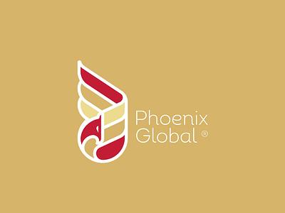 """PHOENIX GLOBAL"" ux ui vector motion graphics illustration typography design logo graphic design branding"