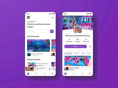 Live Streaming Platform App dailyui uiux live livestremapp uidesign