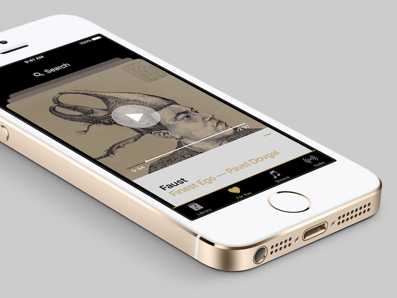 #dailyui #009 Music App swipe faust ios apple 009 dailyui app music
