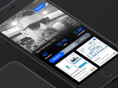 Behance Profiles ui adobe app mobile redesign profile behance