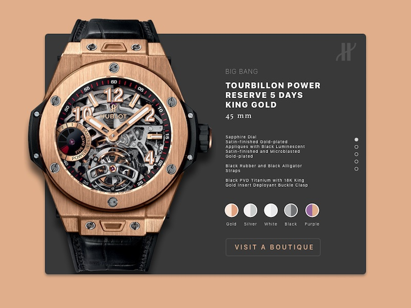 Hublot Product Detail Page collection web detail product watch hublot