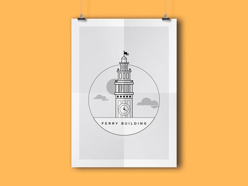 Ferry Building ca sf california san francisco ferry building tower ferry