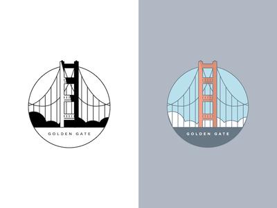 Golden Gate Bridge drawing illustration landmarks ca sf california san francisco bridge golden gate