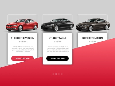Info Card Concept 3 cta car ui web android ios info card bmw