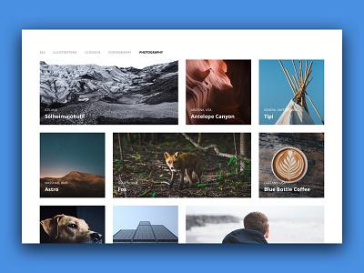 Minimalist Portfolio Design illustration photography content clean simple minimal creative grid responsive web portfolio
