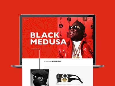 Versace Biggie Product Page Concept e-commerce web design ux ui design
