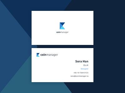 New Logo ! coinmanager blockchain bitcoin businesscard namecard bi ci logo