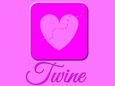 Dating App, Twine light pink icon app logo