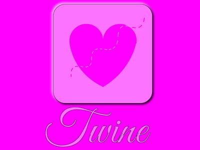 Dating App, Twine pink icon app logo