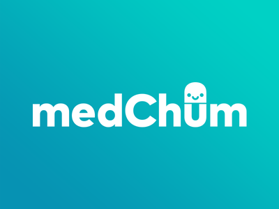 medChum Logo logo health children medication cute one color