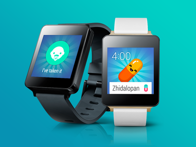medChum app for Android wear health app wearable android wear medication children cute colorful