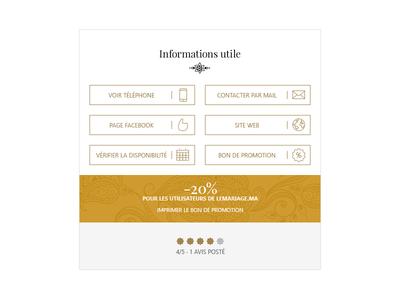 Informations Utile wedding minimal golden moroccan arab henna