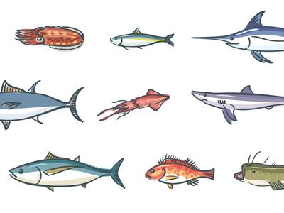 Under the seaaaaa sea fish hand drawn illustration